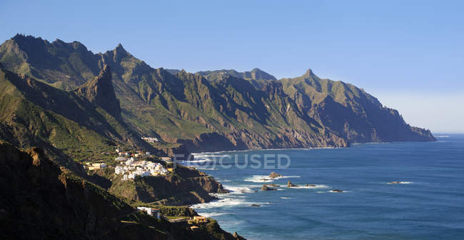 Spain, Canary islands, Tenerife, Anaga mountains, village Almaciga on coast in mountains — Stock Photo