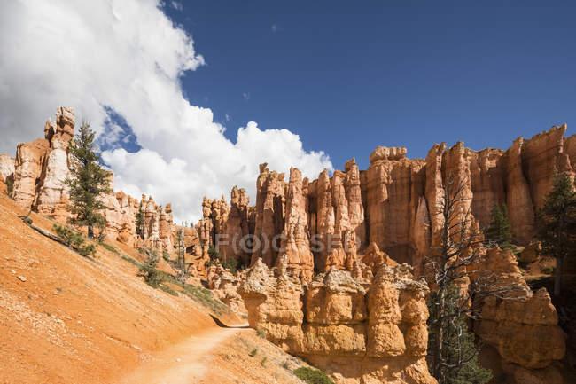 EUA, Utah, Bryce Canyon National Park, hoodoos em Navajo Loop Trail — Fotografia de Stock