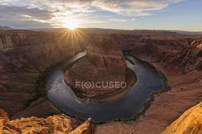 США, Arizona, Page, Colorado River, Glen Canyon National Recreation Area, Horseshoe Bend — стоковое фото