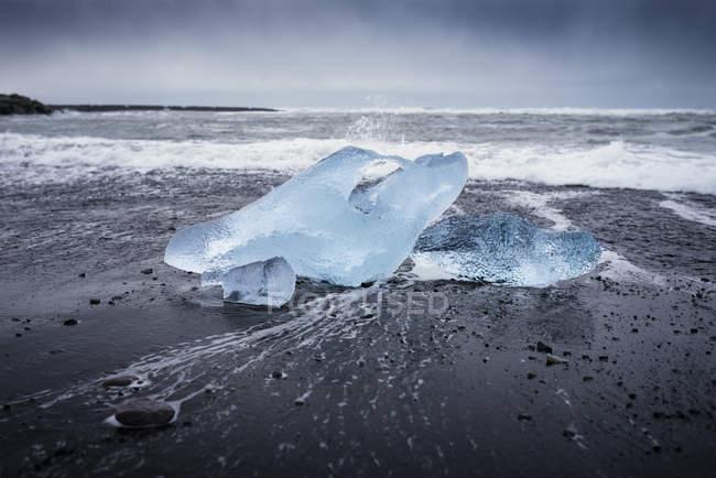Il Diamond beach, laguna glaciale, sud-est dell'Islanda — Foto stock