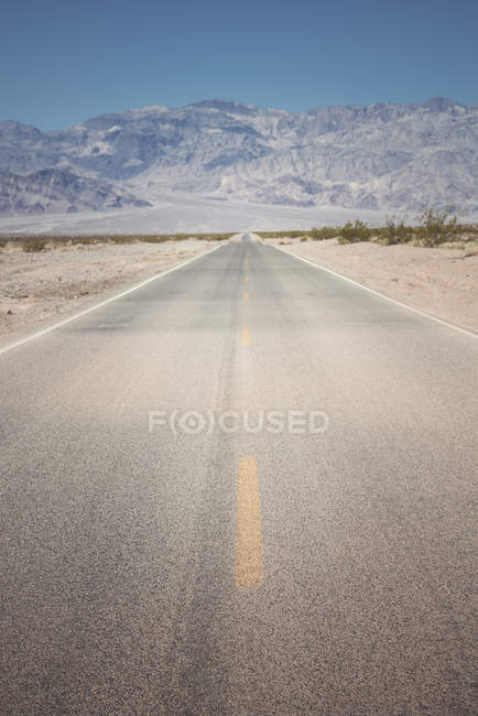View of road and mountain on background during daytime — Stock Photo
