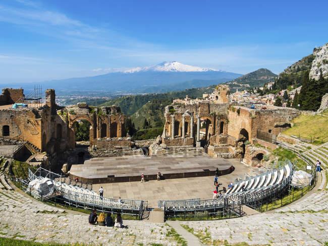Vista de la antigua estructura construida, Italia - foto de stock
