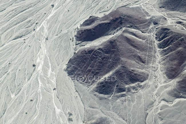 Aussicht auf Hügel und Formationen auf Feld, Südamerika — Stockfoto