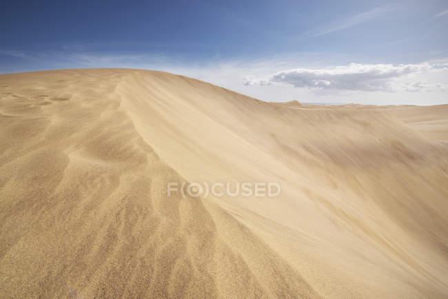 Dune di sabbia dorata a Maspalomas, Gran Canaria, Isole Canarie, Spagna — Foto stock