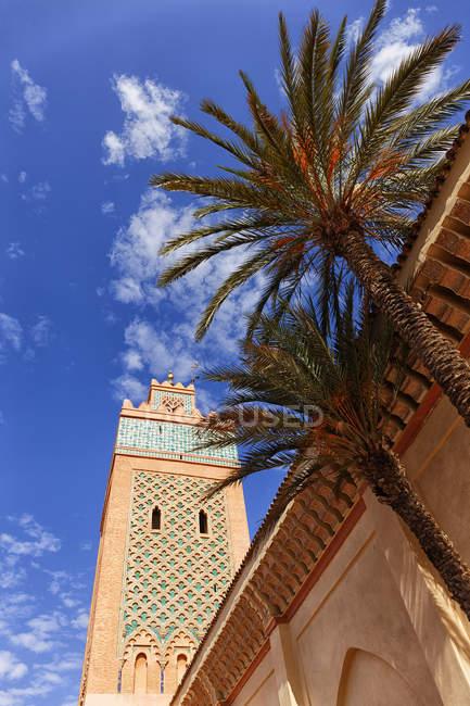 A Mesquita de koutoubia, em Marrakech, Marrocos — Fotografia de Stock