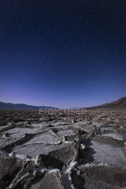 USA, California, Death Valley, Badwater Basin di notte — Foto stock