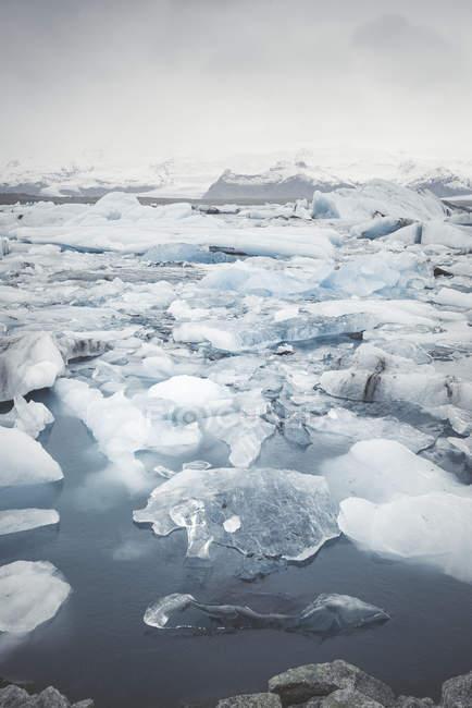 Vista del ghiaccio sull'acqua durante il giorno — Foto stock