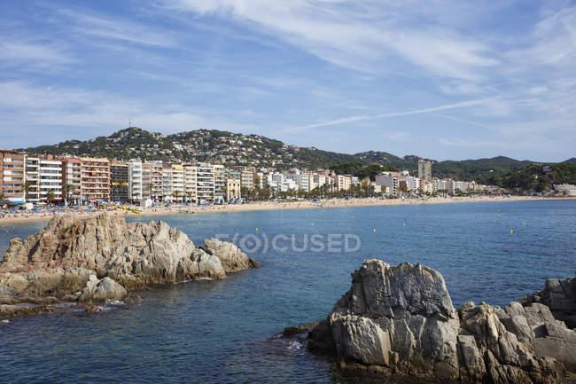 Spain, Catalonia, Lloret de Mar, resort town on Costa Brava at Mediterranean Sea — Stock Photo