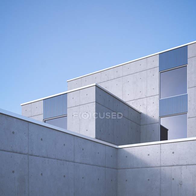 Современная архитектура бетона, 3d визуализация — стоковое фото