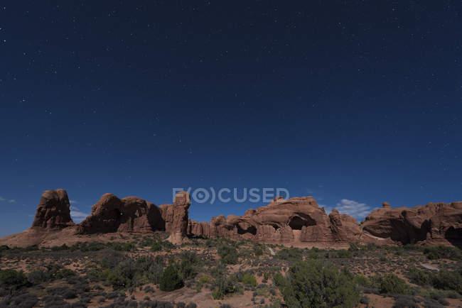 Blick auf Felsen Formationen und Pflanzen tagsüber — Stockfoto