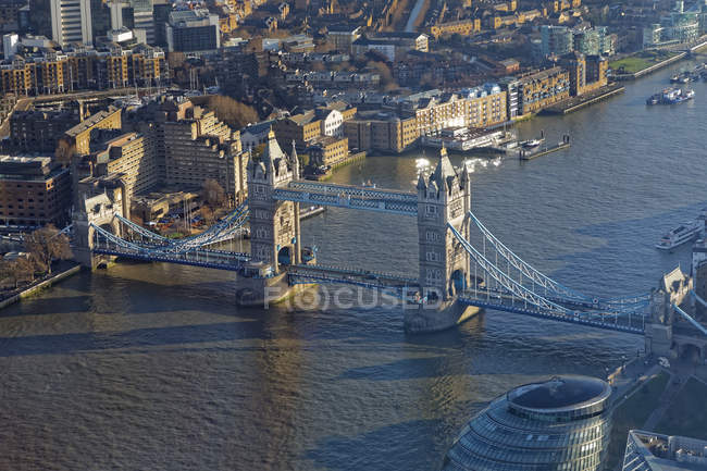 Reino Unido, Londres, Rio Tamisa e Tower Bridge — Fotografia de Stock