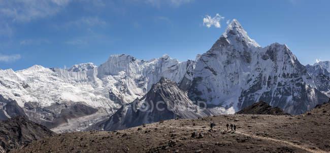 Nepal, Himalaya, Khumbu, Everest, Kongma La e Ama Dablam — Foto stock