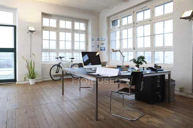Interior of a modern informal office — Stock Photo