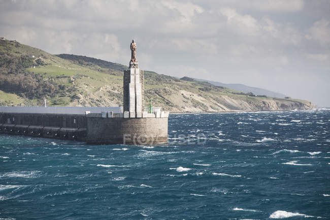Spain, Andalusia, Tarifa, view to port entrance — Stock Photo