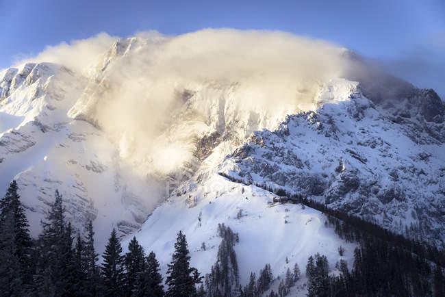 Горный хребет, Альпы, Верхняя Бавария — стоковое фото