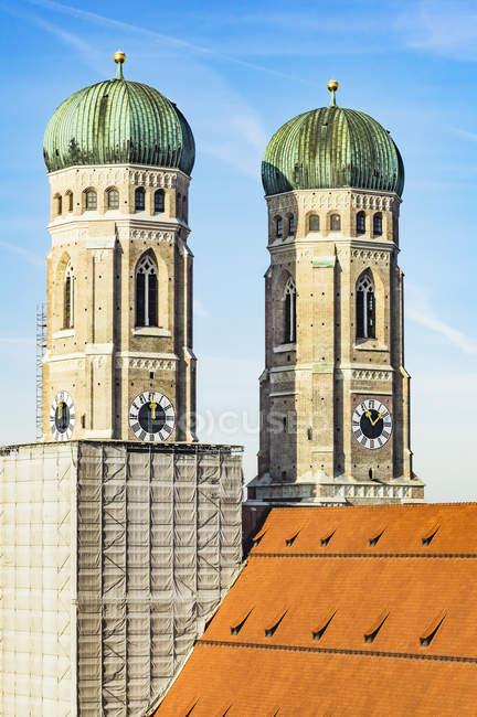 Stadtansicht von München im Dezember, frauenkirche, Bayern, Deutschland, Europa — Stockfoto