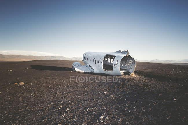 Ісландія, Solheimasandur, крах літака в пустелі — стокове фото