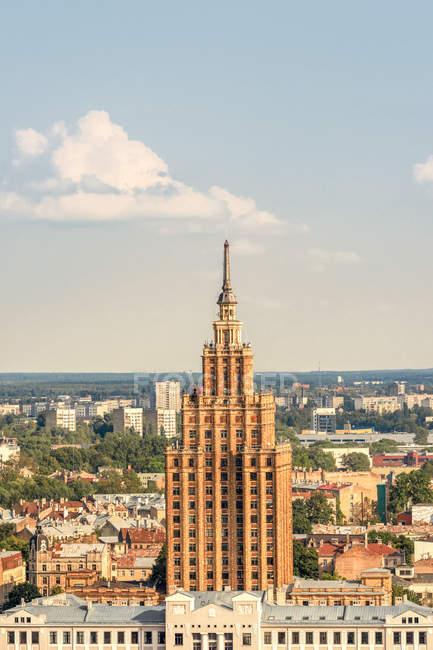 Перегляд будівель і Орієнтир Вентура, Латвія — стокове фото