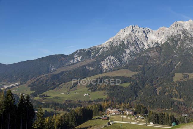 Österreich, Leogang im Herbst während des Tages — Stockfoto