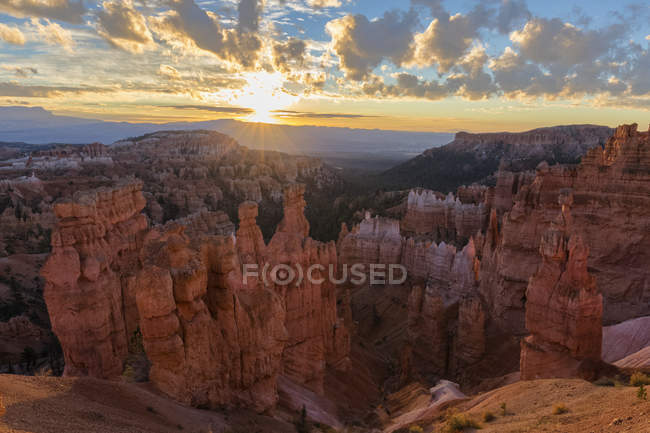 USA, Utah, Bryce Canyon National Park, Thors Hammer in amphitheater at sunrise — Stock Photo