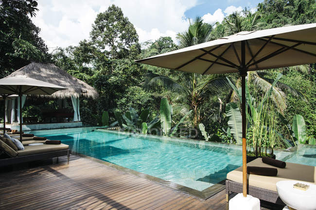 Indonesia, Bali. Piscina tropicale — Foto stock
