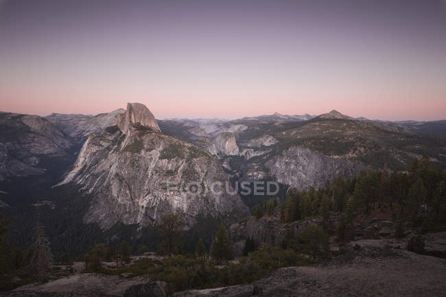 USA, California, Yosemite National Park, Glacier Point at sunset — Stock Photo