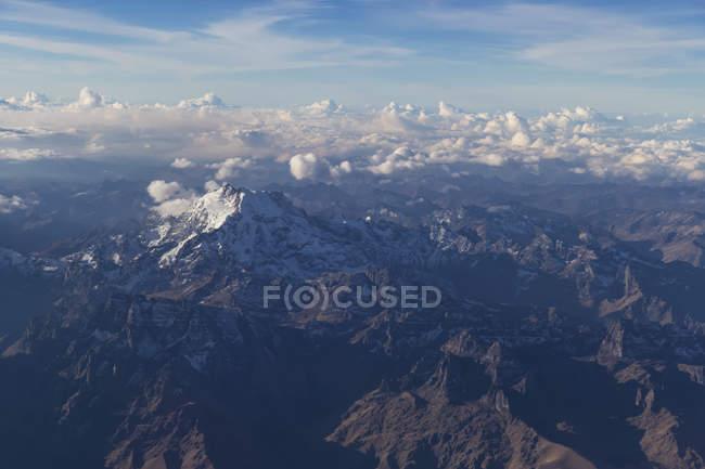 Південної Америки, Перу, Андах діапазон пташиного польоту — стокове фото