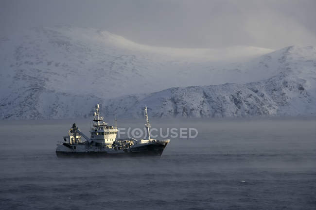 The Barents Sea is an area of the Arctic Ocean — Stock Photo