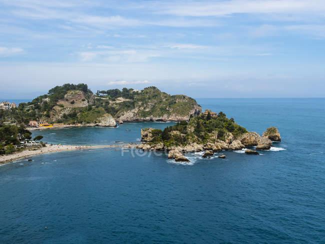 Живописный пейзаж с видом на прибрежные, Сицилия, Италия — стоковое фото