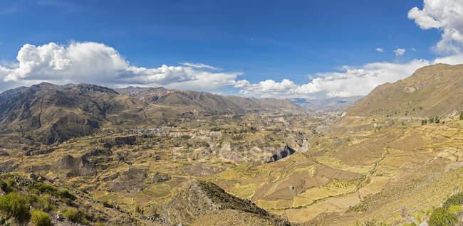 Panorama du Canyon de Colca, Chivay, Pérou, Colca Tal, Andes Découvre d'en haut — Photo de stock