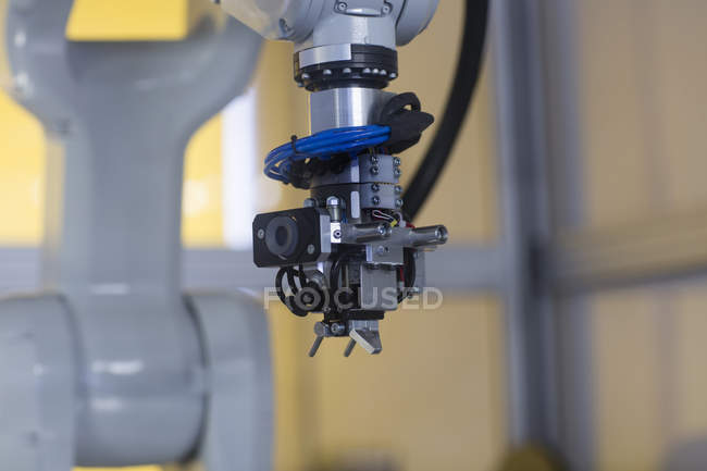 Robot arm automation in a sensor technology and industrial image processing plant, Gottenheim, BW, Germany — Stock Photo