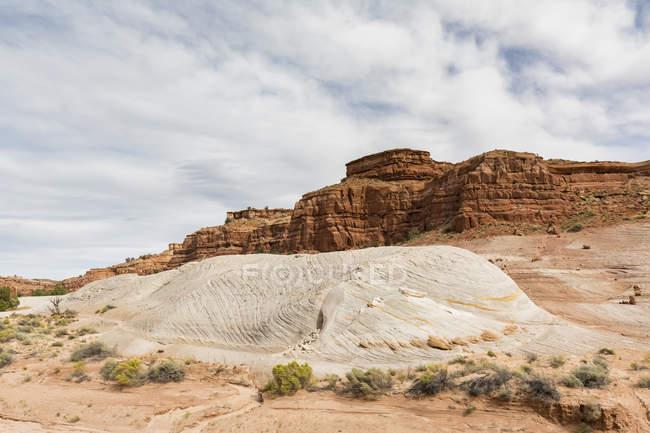 США, каньйоні хлопці, Vermillion скель, сторінки, рок-формування Nautilus — стокове фото