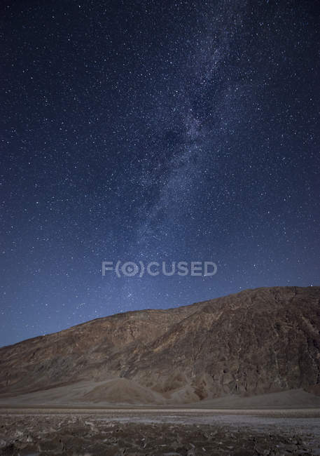 USA, California, Death Valley, milky way over sand dunes — Stock Photo