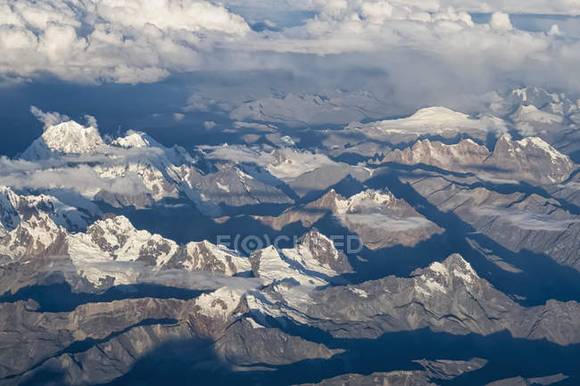 Aerial view of Andes mountains range, Peru, South America — Stock Photo