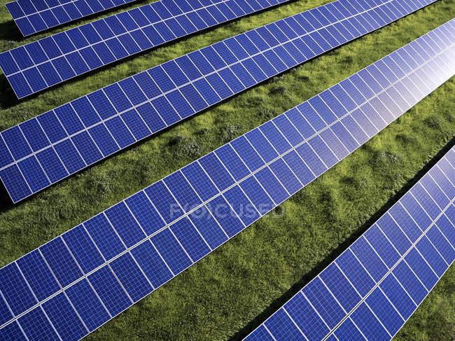 Aerial photograph of solar panels — Stock Photo