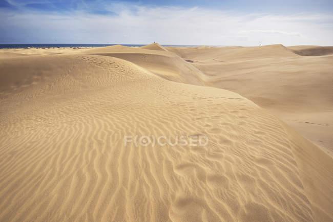 Испания, Канарские острова, Гран-Канария, песчаные дюны Маспаломаса — стоковое фото