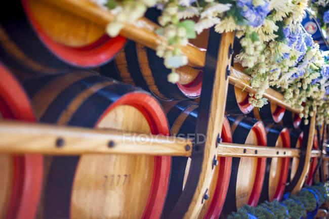 Alemanha, Baviera, Munique, Oktoberfest e vista de barris de madeira — Fotografia de Stock
