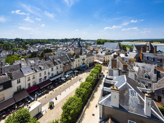 France, Amboise, traditional buildings in old town — Stock Photo