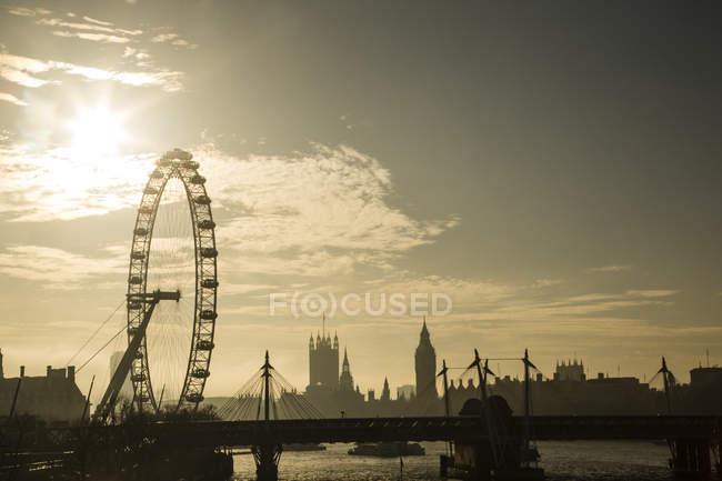 Skyline, London Eye, Big Ben, London, Gb, Regno Unito — Foto stock