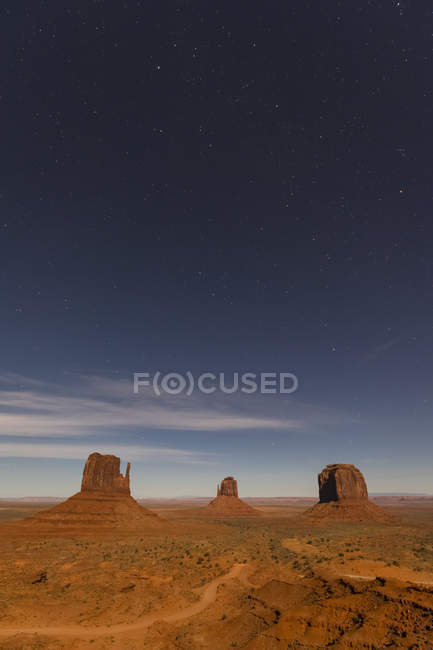Stati Uniti d'America, Stati Uniti d'America, sud-ovest, altopiano del Colorado, Utah, Arizona, nazione Navajo prenotazione, Valle del monumento — Foto stock