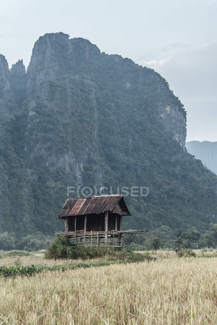 Lao silo un the countruside of Van Vieng — Stock Photo