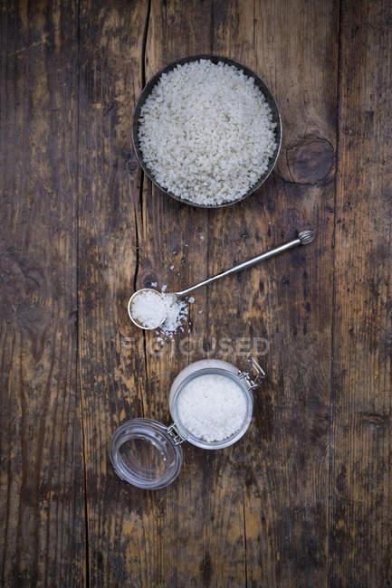 Збереження jar Guerande морською сіллю — стокове фото