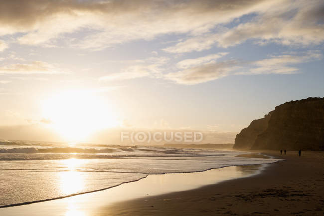 Scenic sunset view of Atlantic ocean seascape, Algarve, Portugal — Stock Photo