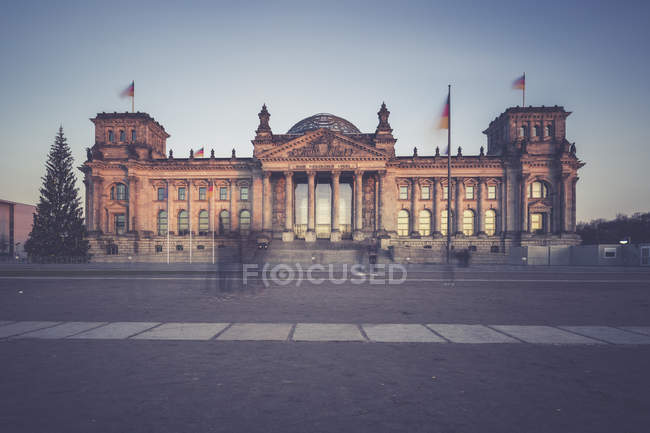 Berlin, Germany, view of Reichstag at evening — Stock Photo