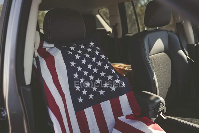 Крышка сиденья американского флага — стоковое фото