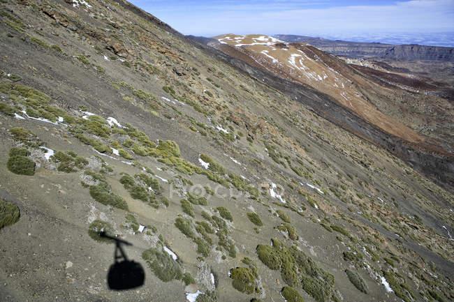 Vista do teleférico do Monte Teide cimeira, Parque Nacional de Teide, Tenerife — Fotografia de Stock