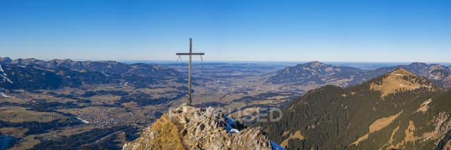 Panorama of Rubihorn, 1957m,, Allgaeuer Alpen, Allgaeu, Bayern, Germany , Europe — Fotografia de Stock