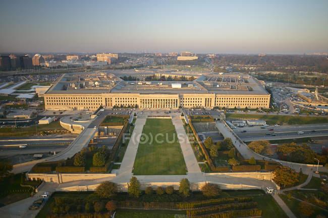 США, Арлінгтон, штат Вірджинія повітряна фотографія східному вході Пентагону — стокове фото