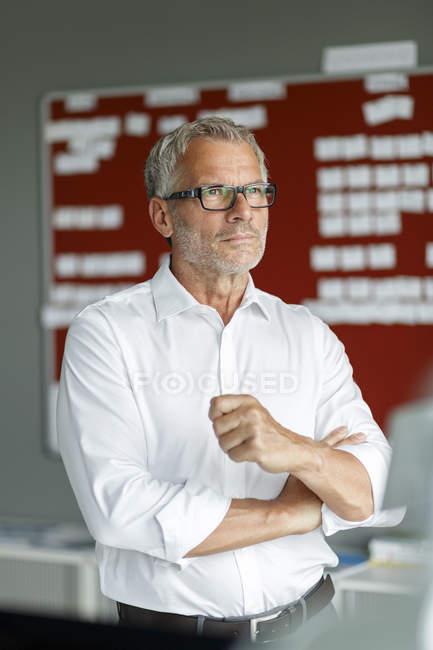 Empresário em exercício — Fotografia de Stock