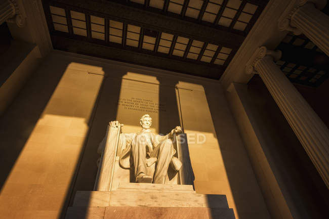 USA, Washington DC, Lincoln Memorial at sunrise — Stock Photo